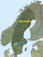 Here, just north of Skellefteå runs Byske river.